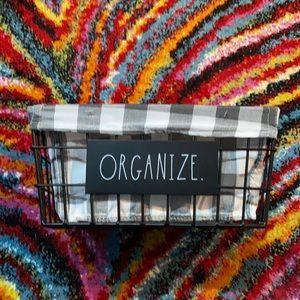 Rae Dunn Organize Basket Medium Sized NWT
